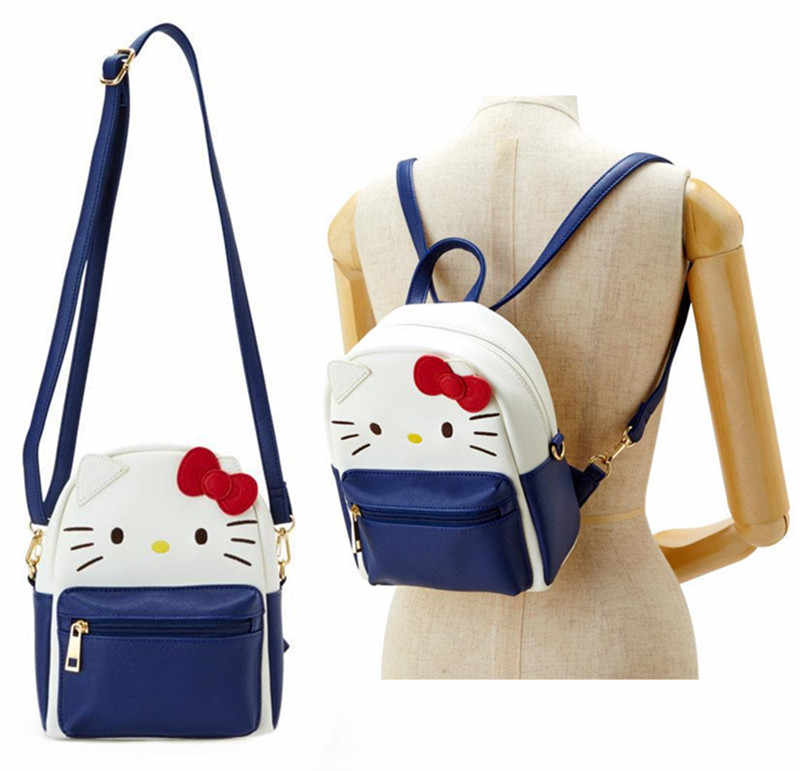 4aab60174 Cute Hello Kitty My Melody Kuromi PU Leather Shoulder Messenger Bag Small  Back Pack Crossbody Bags