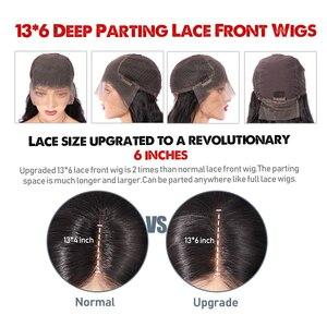 Image 5 - 딥 파트 150% 곱슬 인간의 머리 가발 13*6 레이스 프런트 인간의 머리 가발 미리 뽑아 젖은 물결 모양의 짧은 밥 가발 페루 레미 헤어