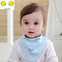 Baby Bibs Boy Girl Water Absorb Bib Burp Cloth Triangle Cotton Scarf  Toddler Stuff