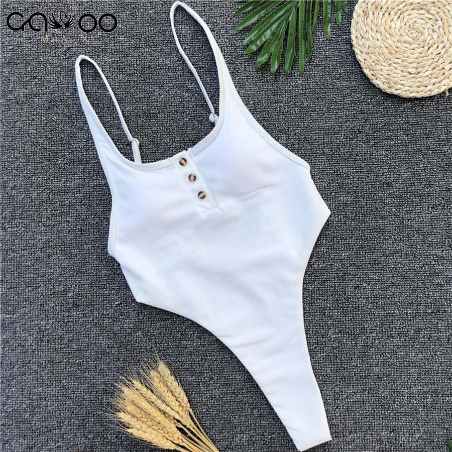 White Bather <font><b>2018</b></font> <font><b>Sexy</b></font> high cut leg one piece <font><b>swimsuit</b></font> <font><b>women</b></font> Swimwear Backless thong Bathing suit Swim female Monokini image