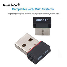 Kebidu USB 2,4 Ghz adaptador inalámbrico 150Mbps WiFi Lan de la red tarjeta Dongle 802.11n/b/g 150M Ethernet para ordenador PC y portátil