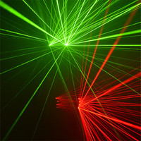 KS83 Party cosplay wears luminous green laser light gloves disco rave red laser gloves 4pcs laser heads laser men show costumes