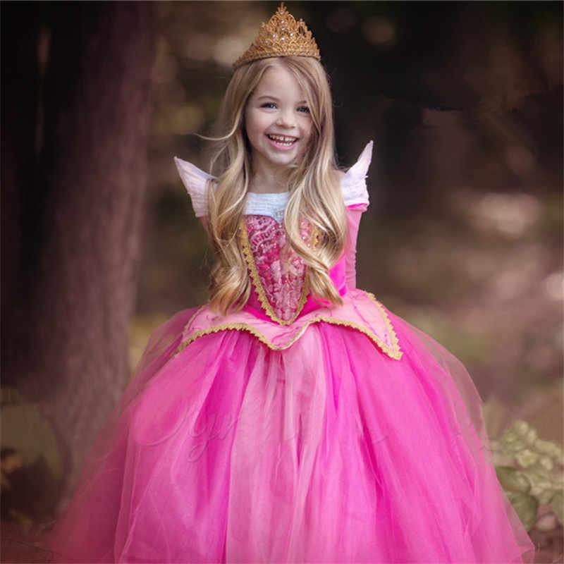 4-10 Elsa vestido de lujo para Niñas Ropa Cosplay Elsa disfraz Halloween fiesta de Navidad princesa adolescentes Vestidos