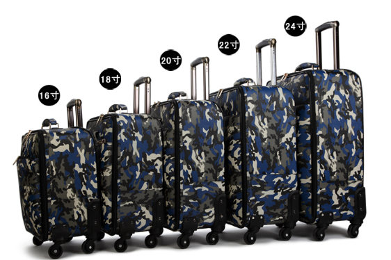 Military Camouflage Rod Box Mens Suitcase Universal Wheel Womens Suitcase Soft Luggage Code Box Boarding Box CD50