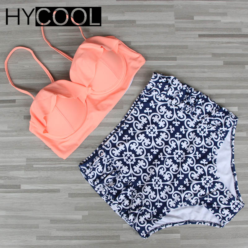 2017 New Bikini Women Swimsuit High Waist Bikini Set Plus Size Swimwear Push Up Bathing Suit Vintage Retro Beach Wear Bather 3XL new bikinis women swimsuit high waist bathing suit plus size swimwear push up bikini set vintage retro beach wear xxl 2017