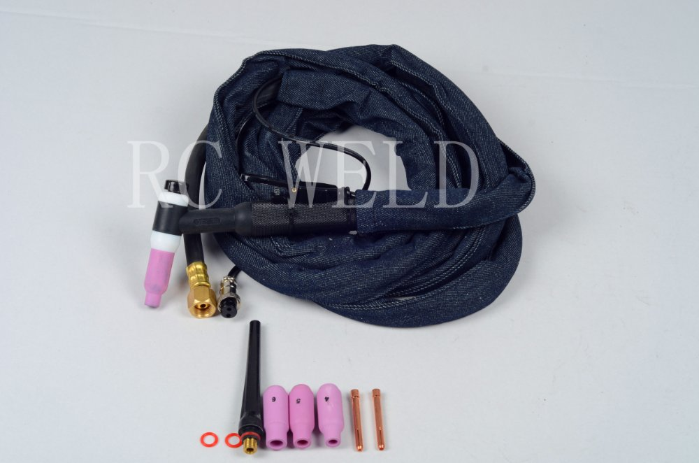 wp17 Tig welding torch 150A DC / 120A AC  0.02 to 3/32 electrode Length:4m cable wt20 tig welding tungsten electrode 2