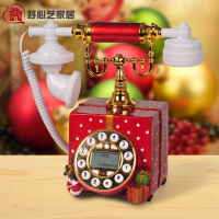 Kind Art RETRO Phone European Telephone Set Garden Gift Box Resin Antique Telephone Set