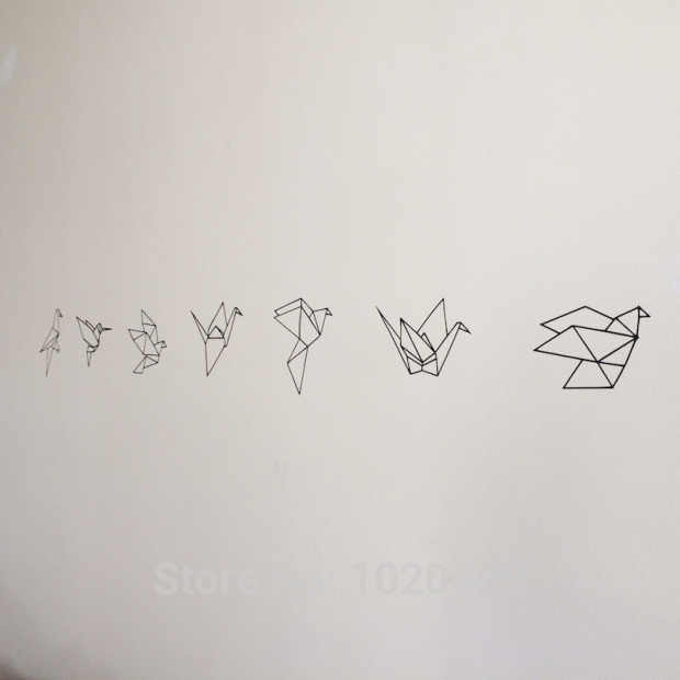 """Высококачественные детские товары в скандинавском стиле ins эксклюзивная пользовательская Геометрическая бумажная наклейка """"Журавли"""" узор в горошек зеленый ПВХ наклейки на стену"""