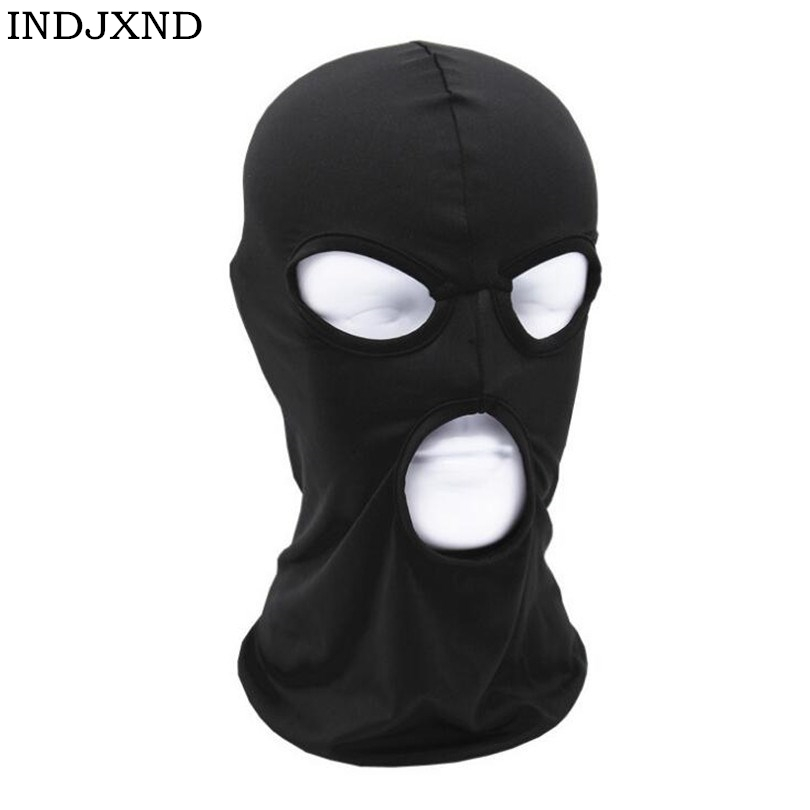3 New Fashion Hole Ski Mask Unisex Black Knit Hat Face Shield Beanie Cap Snow Winter Warm Cover Hat Elegant In Style Apparel Accessories