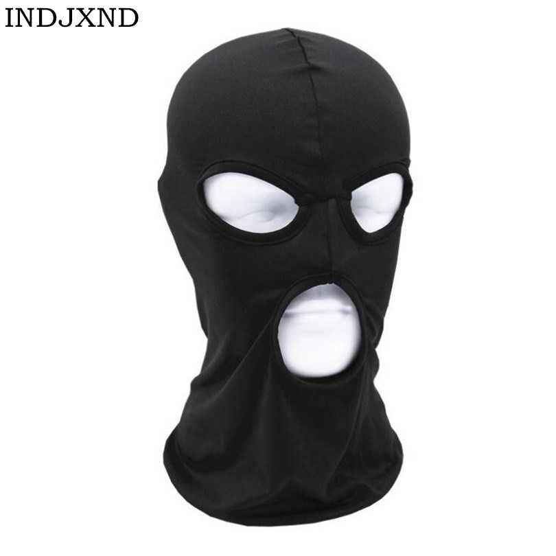 3614366811839 Detail Feedback Questions about 2019 New Full Face Cover Mask Three 3 Hole  Balaclava Knit Hat Winter Stretch Snow Mask Beanie Hat Cap New Black Warm  Face ...