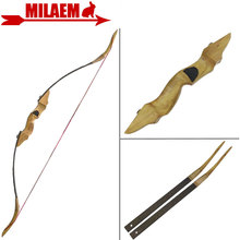 цена на 1Set 54inch 30-50lbs Archery Traditional Longbow TakeDown Recurve Bow Wooden Bow Riser Arrow Rest Hunting Shooting Accessories