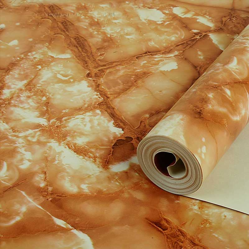 Moderne Imitation Jade pierre marbre salon cuisine plafond Mural papier peint 3D PVC imperméable vinyle revêtement Mural rouleau de papier