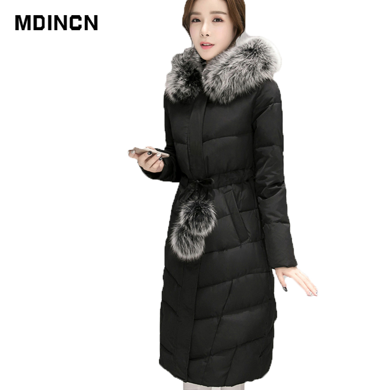 Winter   Down     Coat   Women Parkas Female Long thin 90% White Duck   Down   Padded Jacket Solid Color High Quality Women's Clothing