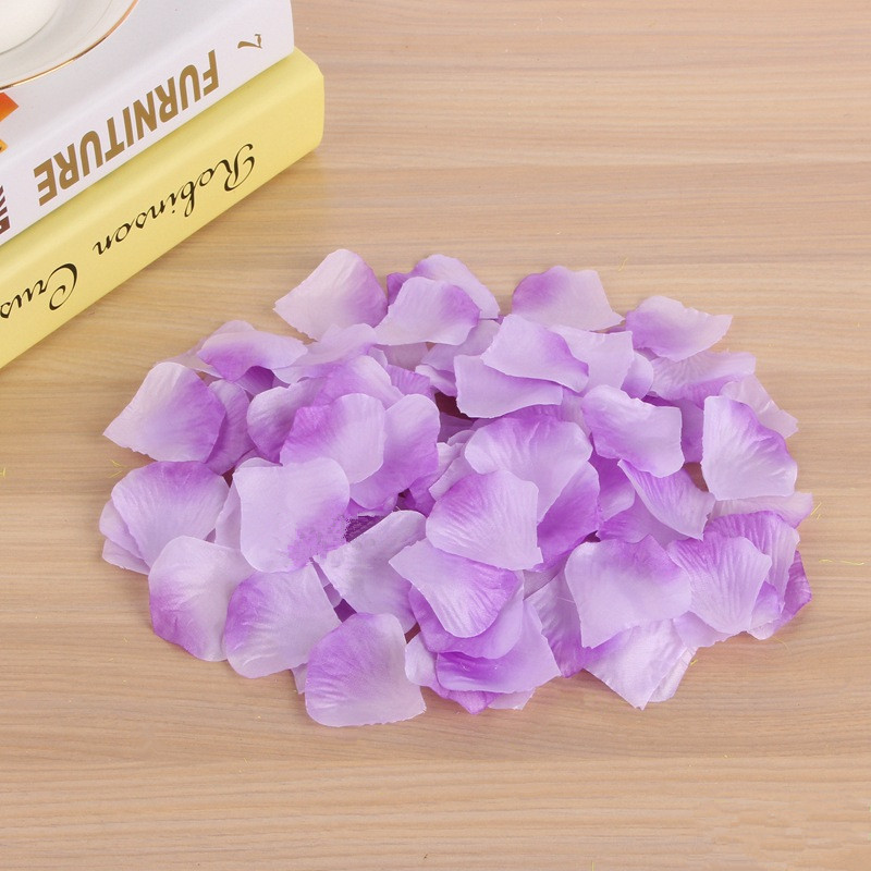 Купить с кэшбэком JaneVini 1000pcs Wedding Rose Petals Accessories Petalos De Seda Artificial Fabric Wedding Decoration Flower Rose Flower Petala