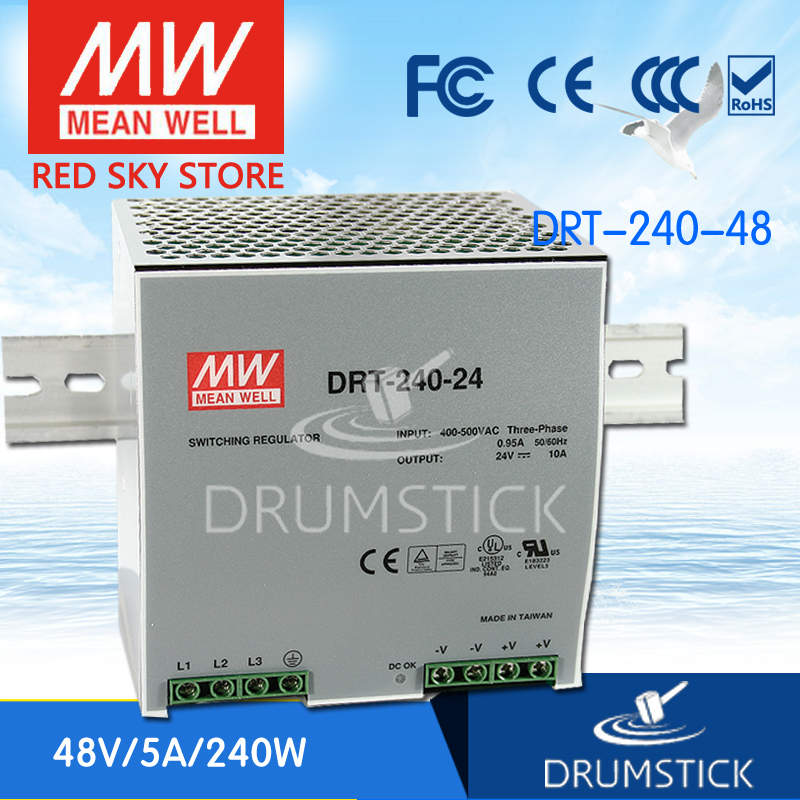 Advantages MEAN WELL DRT-240-48 48V 5A meanwell DRT-240 48V 240W Single Output Industrial DIN RAIL Power Supply [Real6] виниловая пластинка young neil zuma