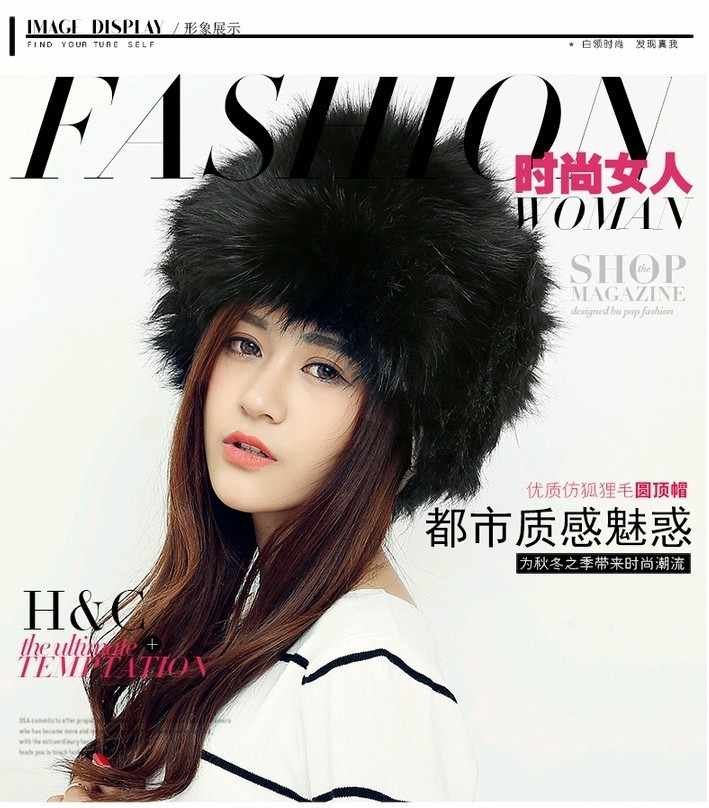 ... Russian Ushanka caps Women s Rabbit fur hat for winter genuine leather  fur tapper hat with fur 5f49a4a938b