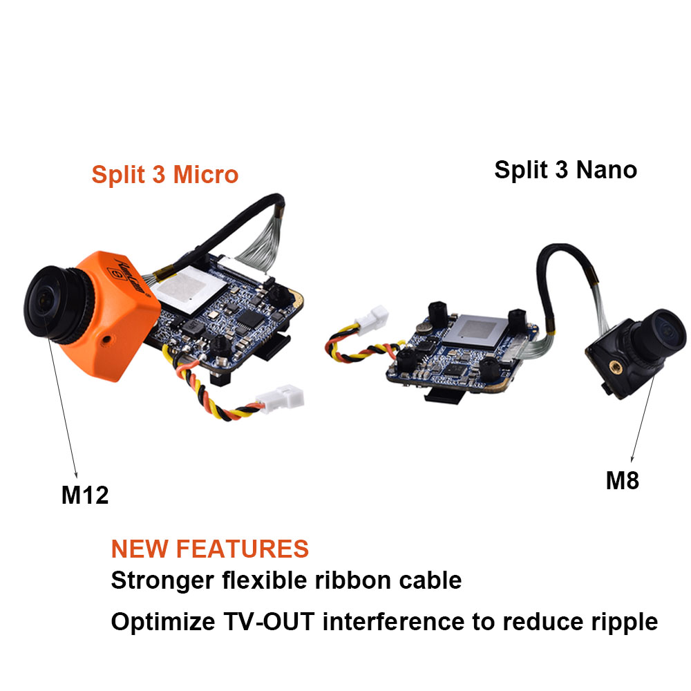 Image 2 - RunCam Split 3 Micro/ Nano Split mini 2 /Split 2S with Wifi FPV Camera 2MP1080P/60fps HD recording plus WDR NTSC/PAL Switchable-in Parts & Accessories from Toys & Hobbies