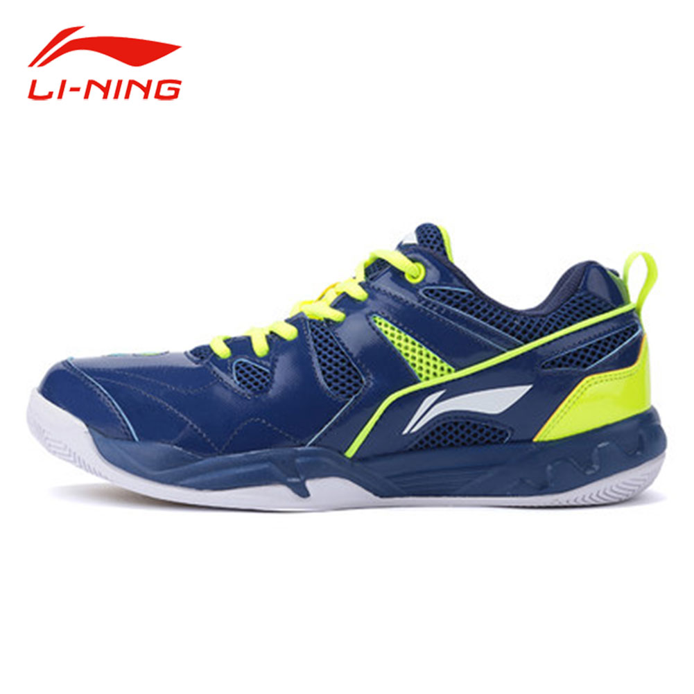 Li-Ning Men Professional Badminton Shoes Anti-Slip Support Training Sneakers Original LI NING Breathable Sports Shoes AYTM069 peak sport men outdoor bas basketball shoes medium cut breathable comfortable revolve tech sneakers athletic training boots