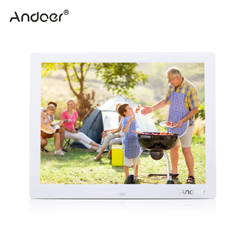 "Andoer  15"" HD TFT-LCD Digital Photo Frame 1024*768  Alarm Electronic Frame Clock MP3 MP4 Movie Player with Remote Desktop"