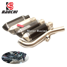 Motorcycle Middle Tube 51MM Adapter Pipe Escape Muffler DB Killer for Benelli 600 BN600 Slip-On Full Exhaust Systems Akrapovic