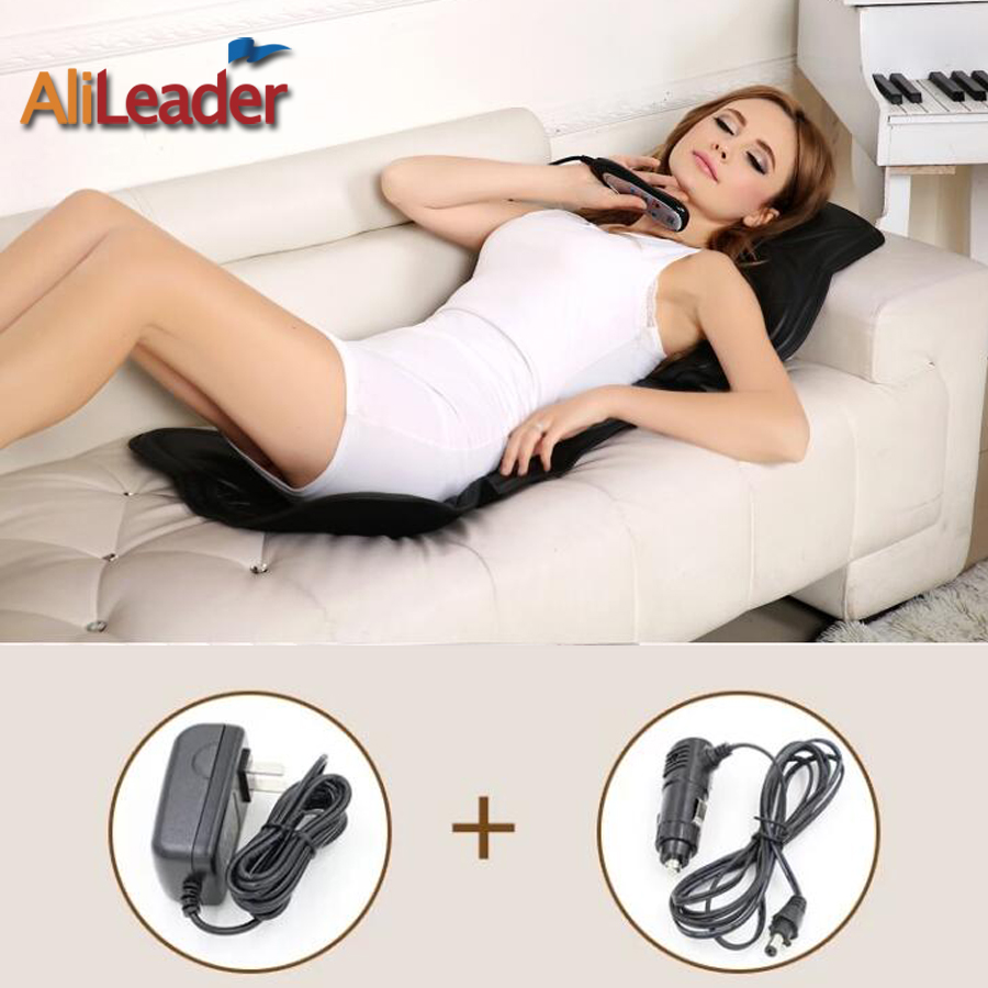 Hot Sale Auto Car Home Office Full-Body Back Neck Lumbar Massage Chair Heat Vibrate Mattress Relaxation Car Pad Seat Massager hot sale hot sale car seat belts certificate of design patent seat belt for pregnant women care belly belt drive maternity saf