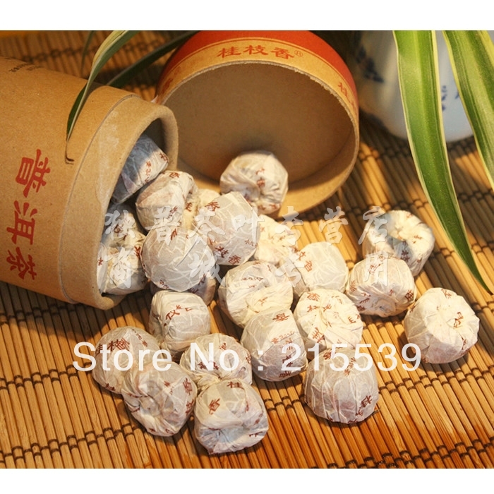 [GRANDNESS] Osmanthus Fragrant 200g * 2009 yr, Yunnan Haiwan Old Comrade Pu er pu erh Puerh mini Ripe Shu tuo tea tuocha