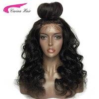 Карина волосы индийский Реми Человеческие волосы короткие Glueless Искусственные парики свободная волна 150% плотность Синтетические волосы на ...