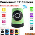 1280X720P Wireless Wifi IP Camera Fisheye lens Onvif P2P Remote view Mini indoor panoramic Camera Plug and play for baby monitor