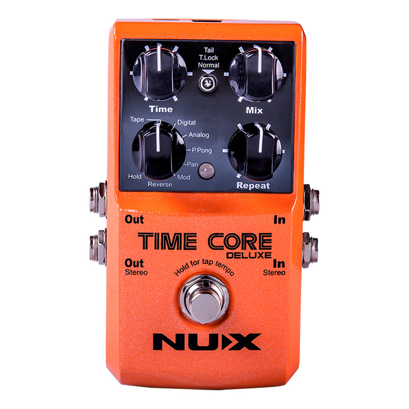 NUX Time Core Deluxe Delay Guitar Effect Effect Pedal 7 Delay Models True Bypass Free Shipping Guitar Accessories joyo jf 304 new product time magic delay mini smart effect pedal analog sounding digital delay 600ms ture bypass free shipping