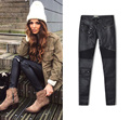 Ladies Stretch Sexy Skinny Jeans Womens High Waisted Slim Fit Denim Pants Slim Denim Straight Biker Skinny Jeans zipper
