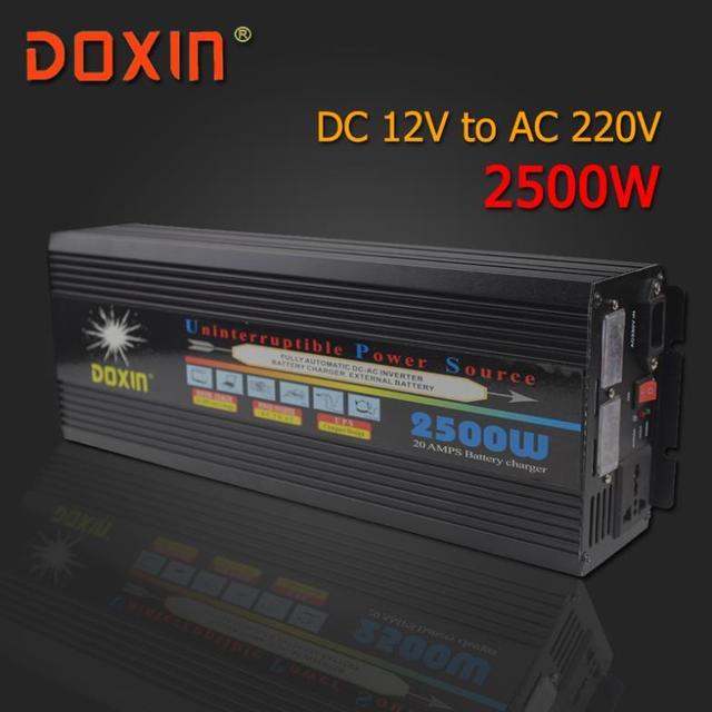 AC/DC/AC Inversor Carro 12 V 220 V 2500 W Power Inverter Universal Sistema De Energia Ininterrupta/fonte de Alimentação ininterrupta UPS