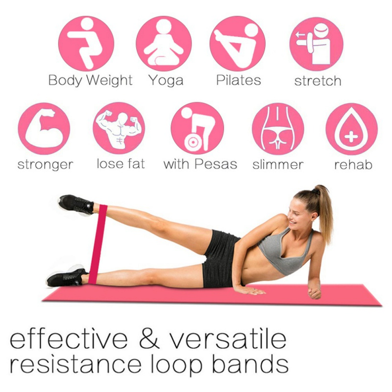 Resistance Bands Booty Leg Exercise Elastic Rubber Band Workout Fitness Gym Rubber Latex Yoga Gym Strength Training Equipment