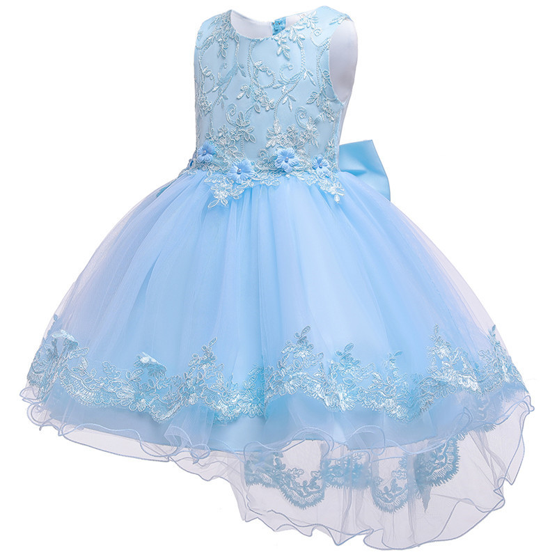 HTB1evhGe.CF3KVjSZJnq6znHFXaM - Kids Princess Dresses For Girls Clothing Flower Party Girls Dress Elegant Wedding Dress For Girl Clothes 3 4 6 8 10 12 14 Years