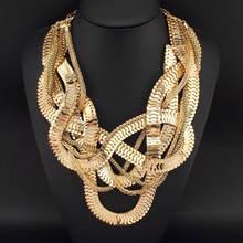 Moda Chunky Collares Declaración de Cadena de La Serpiente Para Las Mujeres Desgaste Del Partido Accesorios Bohemia Gargantillas Joyería Collar Grande N1976