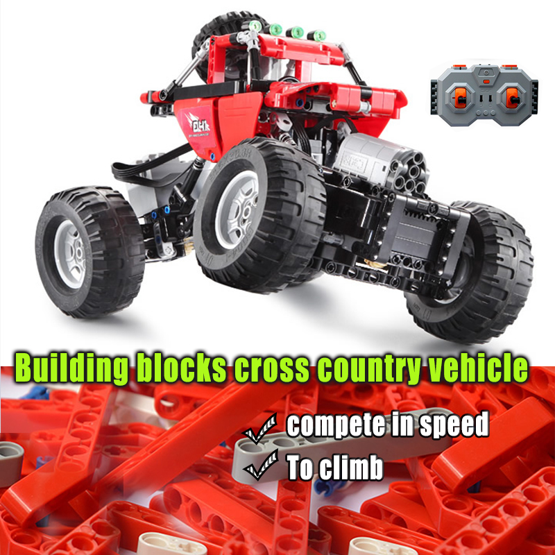 Technic Remote Control RC Car Off Road Climbing Models Electric Power Building Blocks Toys For Children