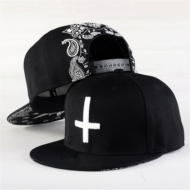 Snapback Hat New Arrival Cross Baseball Caps for Men Women Flat Brim Hiphop Boy Snap Back Hat Adjustable Festival Gift