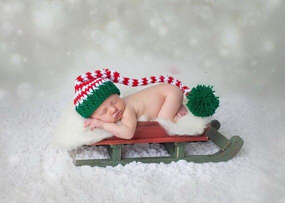 Baby Strumpf Mütze Häkeln Baby Zuckerstange Elf Weihnachten Santa