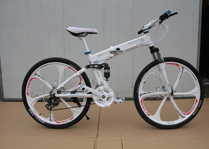 26x18 inch Double shock absorption aluminium mountain bike disc brakes men folding bicycle road bike