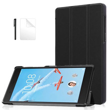 Slim Folding PU Leather Case for Lenovo Tab 4 7 TB-7504F TB-