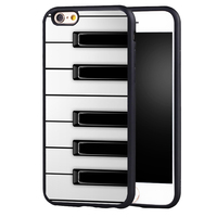 Piano Keys Musical case cover for iphone 7 7plus 6 6splus 5 5s 5c SE
