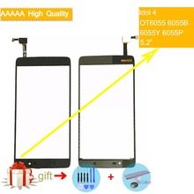 For Alcatel One Touch Idol 4 LTE OT6055 6055 6055P 6055Y 6055B 6055K Touch Screen Panel Sensor Digitizer Front Outer Glass стоимость