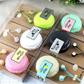 2016 Promotion Rushed In-ear Headset Headphone Wired Earphone With Earphones Bag Cute Macaron Candy Color Portable Handset
