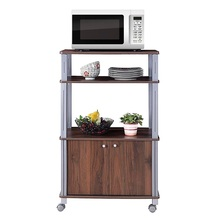 Bakers Rack Microwave Stand Rolling Storage Cart with Wheels