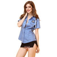 Woman Sexy Police Costume Airline Stewardess Cosplay Costume Lady Nightclub Sexy Uniforms Temptation