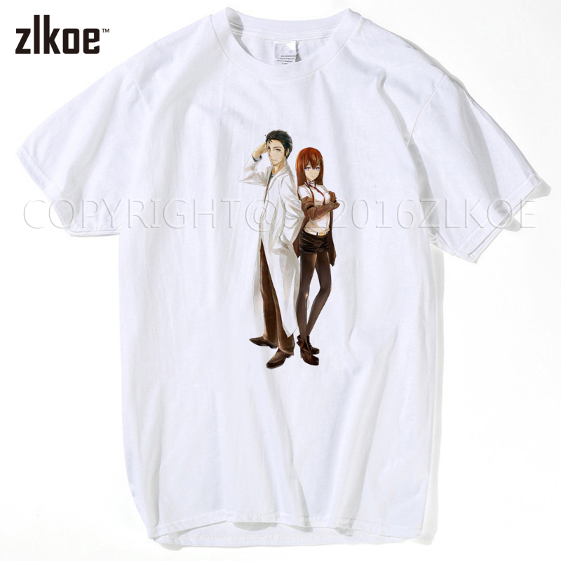 Back To Search Resultsmen's Clothing High Quality Casual Printing Tee Steins;gate El Psy Kongroo Anime Japan Series T-shirt Black Basic Tee Summer T-shirt Pure White And Translucent T-shirts