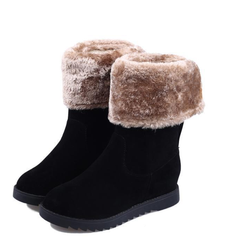In tube, Ms. snow boots, flat boots thick warm winter shoes, women winter boots. Cotton boots boots