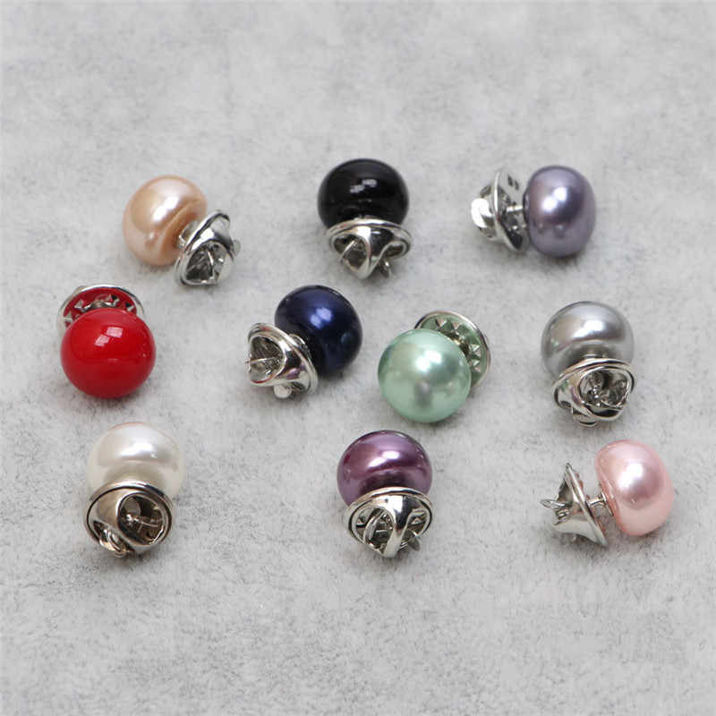 Hot Sale 1Pc Imitation Pearl Circle Brooch Pins PU Button Women Zircon Fashion Brooches for Women All-match Jewelry Accessories