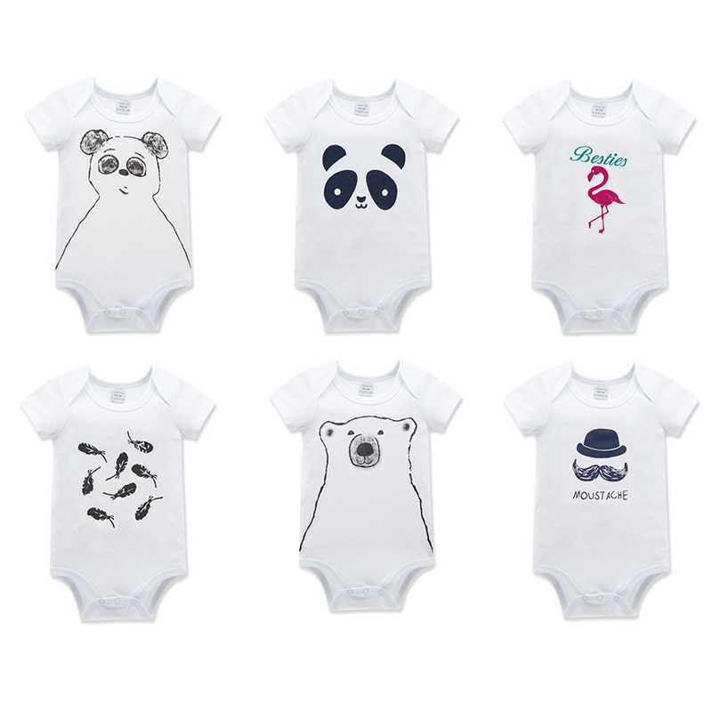Baby Rompers 2018 Short Sleeve Panda Printed Cotton Overalls Newborn Clothes Roupas De Bebe Boys Girls Jumpsuit&Clothing
