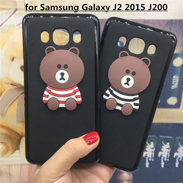 3D Soft Silicone Phone Case Cover for Samsung Galaxy J2 2015 SM-J200 J200F J200G J200H Back Covers Cartoon Cases Capa Funda