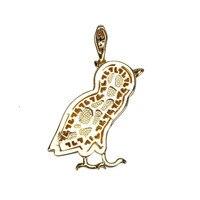 UWIN Сова-подвеска язык медь плюс AAA фианит золото Palted модный Рок Панк Хип-хоп ожерелье мужские украшения